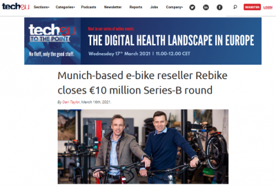tech.eu: Munich-based e-bike reseller Rebike closes €10 million Series-B round
